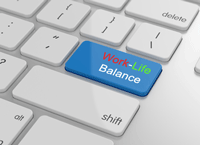 Tastatur-Work-Life-Balance